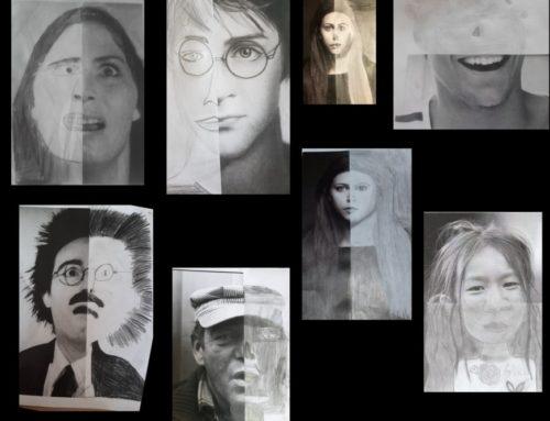 cm1-cm2: Arts visuels – Les demi-portaits